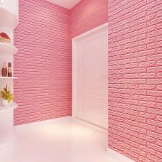 Панель самоклеющаяся 70х77 см-Цвет розовый